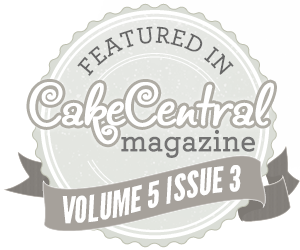 Featured in Cake Central Magazine Volume 5 Issue 3